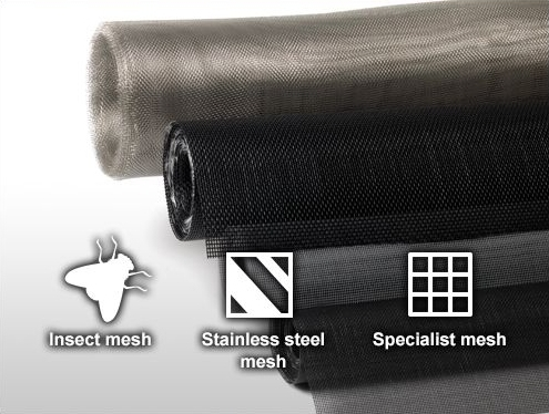 Insect mesh, stainless steel mesh and specialist mesh